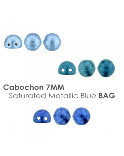 Cabochon 7mm Saturated Metallic Blue BAG