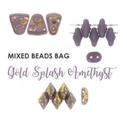Mixed Beads Coral&Turqoise BAG