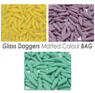 Glass Daggers Matted Colours BAG