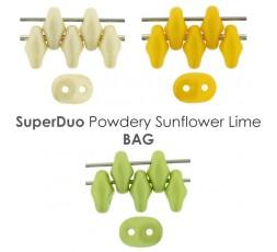 Superduo Powdery Sunflower Lime BAG