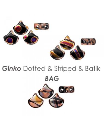 Ginko Dotted & Striped & Batik BAG