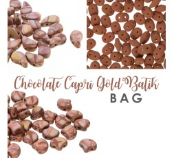 Chocolate Capri Gold Batik BAG