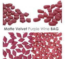 Matte Velvet Purple Wine BAG