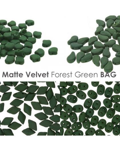 Matte Velvet Forest Green BAG