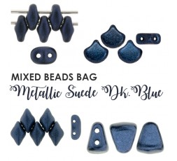 Mixed Beads Suede Dk.Blue BAG