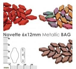 Navette 6x12mm Metallic BAG