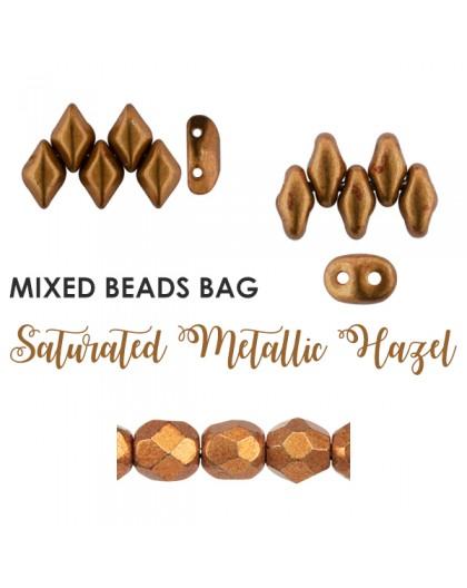 Mixed Beads Saturated Metallic Hazel BAG