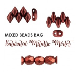 Mixed Beads Saturated Metallic Hazel BAG