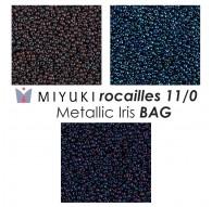 Miyuki Rocailles 11/0 Metallic Iris BAG