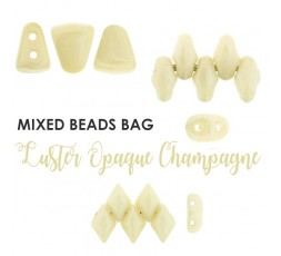 Mixed Beads Luster Opaque Champagne BAG