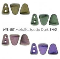 NIB-BIT Metallic Suede Dark BAG