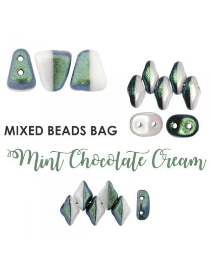 Mixed Beads Mint Chocolate Cream BAG