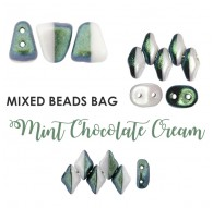 Mixed Beads Mint Chocolate Cream BAG