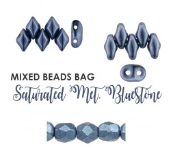 Mixed Beads Saturated Metallic Frost Gray BAG