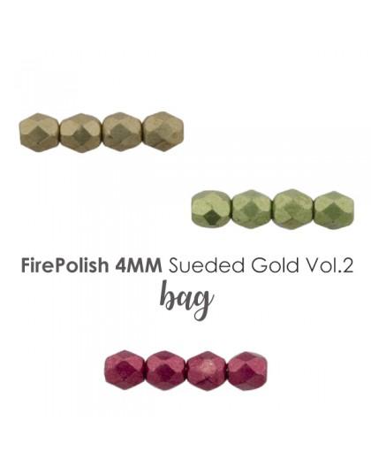 Firepolish 4mm Sueded Gold VOL.2 BAG