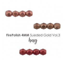 Firepolish 4mm Sueded Gold VOL.3 BAG