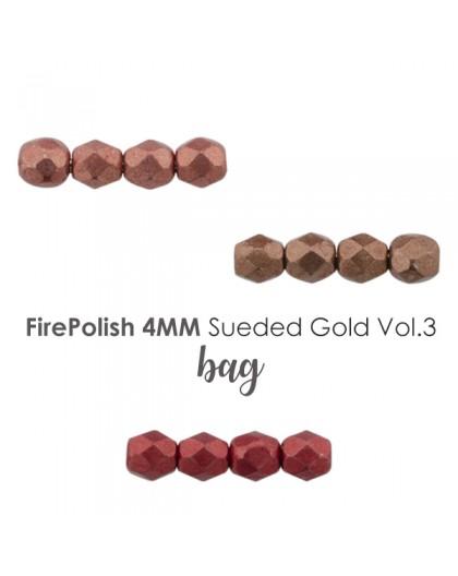 Firepolish 4mm Sueded Gold VOL.3 BAG