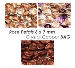 Rose Petals 8 x 7 mm Crystal Copper BAG