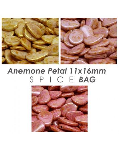 Anemone Petal 11x16mm Etched Vol.2 BAG