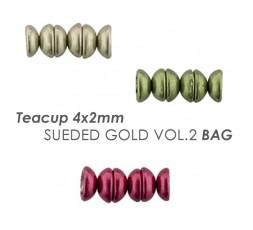 Teacup 4x2mm Sueded Gold Vol.2 BAG
