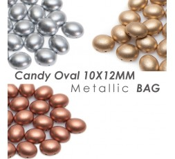 Candy Oval 10x12mm Metallic BAG