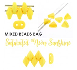 Mixed Bead Saturated Neon Violet BAG