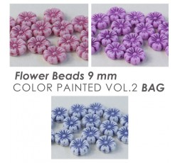 Flower Beads 9 mm Color Painted Vol.1 BAG