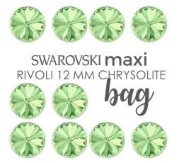 Swarovski 1122 Rivoli 12 MM Chrisolite MAXI BAG