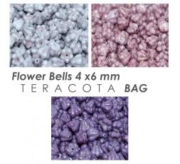Flower Bells 4 x 6 mm Teracota BAG