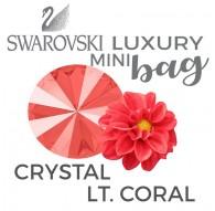 Swarovski Crystal Lt. Coral LUXURY Mini BAG