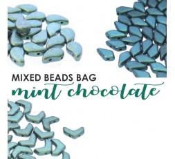 Mixed Beads Mint Chocolate Bag