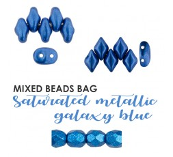 Mixed Beads Saturated Metallic Forest Biome BAG