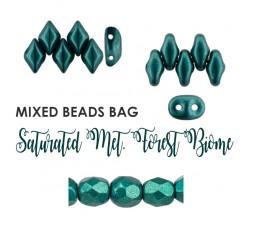 Mixed Beads Saturated Metallic Merlot BAG