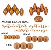 Mixed Beads Saturated Metallic Ceylon Yellow BAG