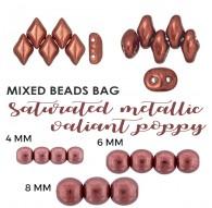 Mixed Beads Saturated Metallic Russet Orange BAG