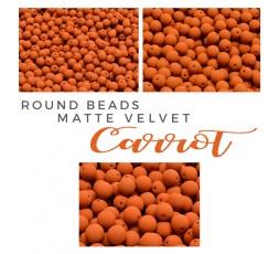 Round Beads Matte Velvet Mustard BAG