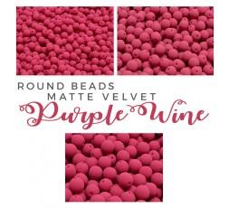 Round Beads Matte Velvet Lavender BAG