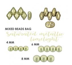 Mixed Beads Saturated Metallic Limelight BAG
